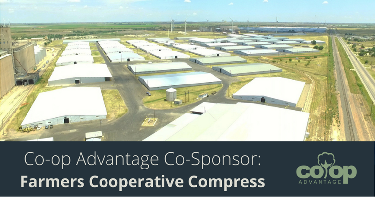 Aerial view of Farmers Cooperative Compress in Lubbock, Texas