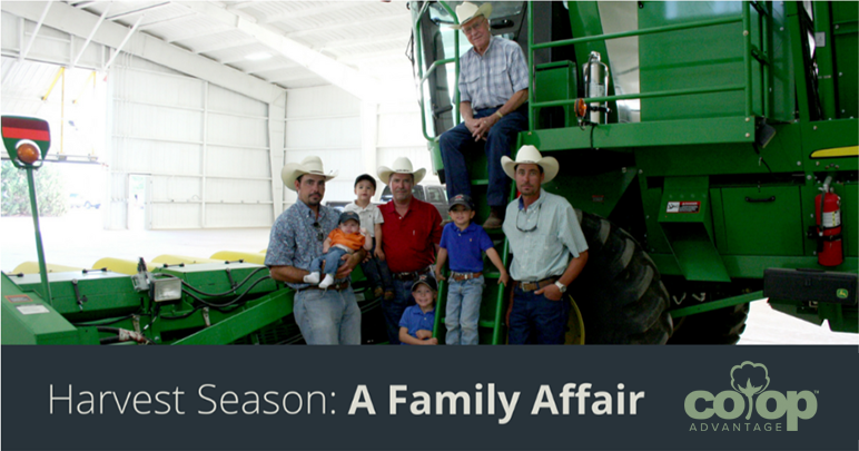 Generational farming family